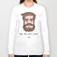 beard Long Sleeve T-shirts featuring Beard by My Big Fat Brand