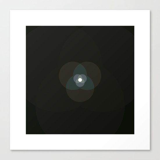 #360 Graced with light part II (circle) – Geometry Daily Canvas Print