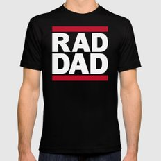 RAD DAD Mens Fitted Tee LARGE Black