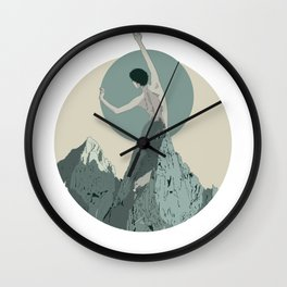 mountains 3 Wall Clock