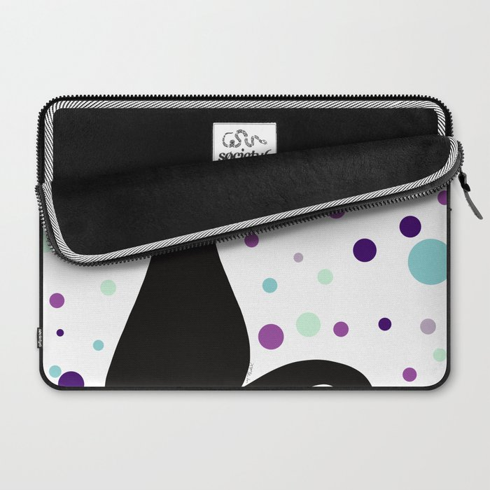 Black Cat Party! Laptop Sleeve