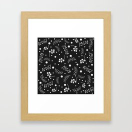 Small Berries and Spruce Twigs Framed Art Print