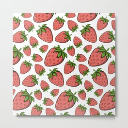 Strawberrfectly Normal Metal Print