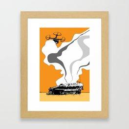 Sd.Kfz. 251 Drone Strike Framed Art Print