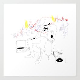 The Ringmaster and his Vinyl Art Print