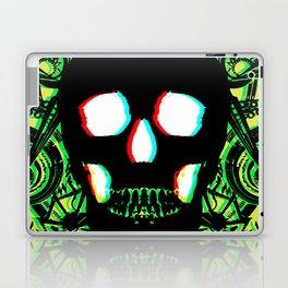 Green Skull 3d Laptop & iPad Skin