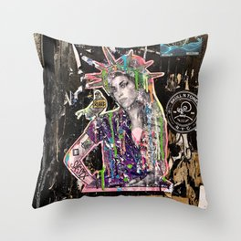 Rehab Amy Graffiti in New York City Throw Pillow