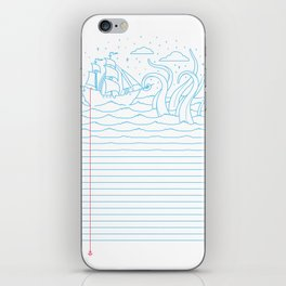 My Minds at Sea iPhone Skin