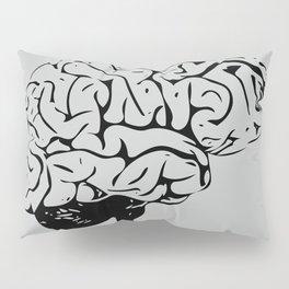 Braaains (black on grey) Pillow Sham