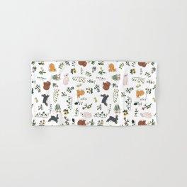 Bunnies and spring flowers Hand & Bath Towel