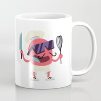 chef Mugs featuring Cool Chef by Sergei Dragunov