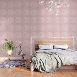 Mandala Moon Pink Wallpaper
