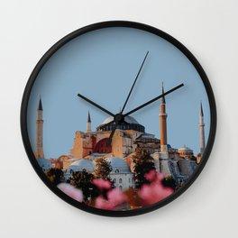 Hagia Sofia, Istanbul, Turkey Travel Artwork Wall Clock