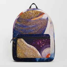 Angel with gold wings Backpack