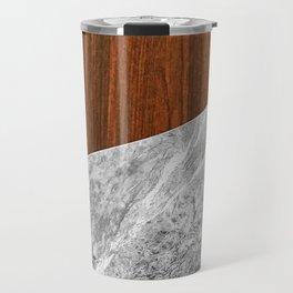 Wooden Marble Travel Mug