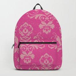 Pink Vintage Damask Backpack
