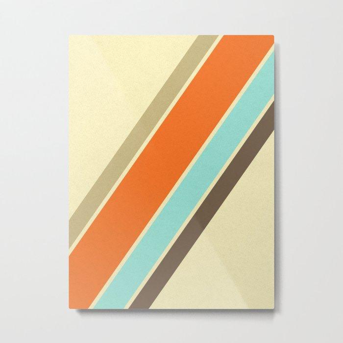 Retro Stripes Metal Print