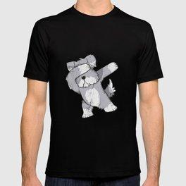Schnauzer Cute Dabbing T-Shirt Funny Dab Dance Gift Shirt T-shirt