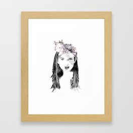 Bee Yourself is all that you can do Framed Art Print