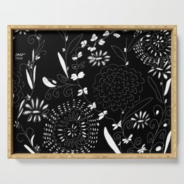 black toile by cocoblue Serving Tray