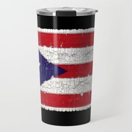 Puerto Rican flag with distressed textures Travel Mug