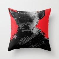 django Throw Pillows featuring django by jensuisdraws