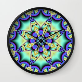 A touch of Spring, fantasy flower pattern design Wall Clock