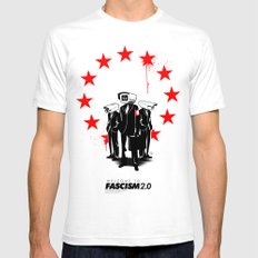 fascism 2.0 Mens Fitted Tee White SMALL