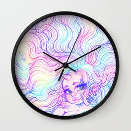 Rainbow Mermicorn (Pastel Version) Wall Clock