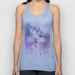 "Watercolor Painting of Picture ""Passion"" Unisex Tank Top"