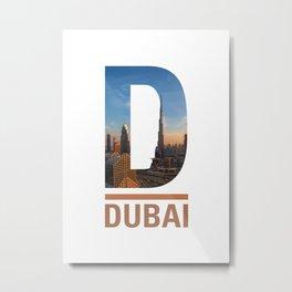 D-ubai Metal Print