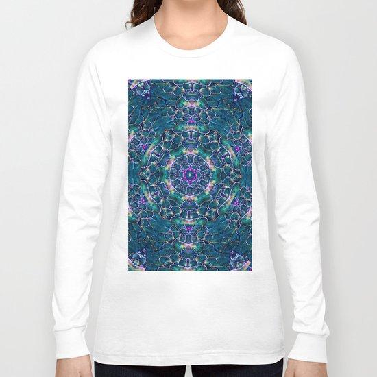 Blue butterfly wings mandala Long Sleeve T-shirt