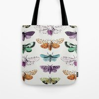 techno Tote Bags featuring Techno-Moth Collection by Zeke Tucker
