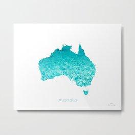Australia Map  Metal Print