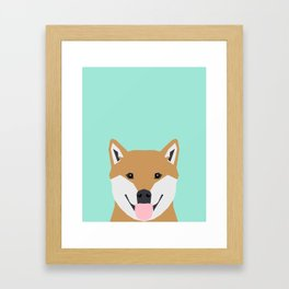 Cassidy - Shiba Inu gifts for dog lovers and cute Shiba Inu phone case for Shiba Inu owner gifts Framed Art Print