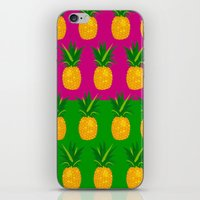 pineapples iPhone & iPod Skins featuring Pineapples by The Wallpaper Files