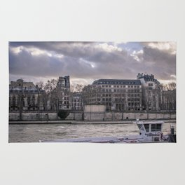 Seine wharf, Paris, France Rug