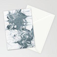Haru - spilled ink modern abstract marble painting indigo ink splash swirl ocean waves water sea Stationery Cards