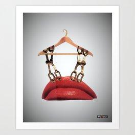 Lips Hanger Art Print