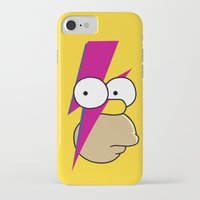 homer iPhone & iPod Cases featuring Homer Stardust by lapinette
