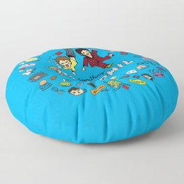 The Vortex of Everything Dan and Phil Floor Pillow