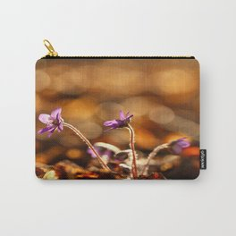 Wonderful Moment In Forest Springtime #decor #society6 Carry-All Pouch
