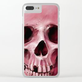 Skull 8 Clear iPhone Case