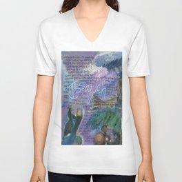 Issaquah Washington...Mixed Media Art by Seattle Artist Mary Klump Unisex V-Neck