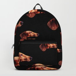 Dachshunds on My Mind in Black Backpack