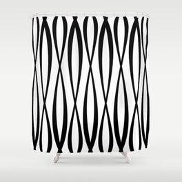 Background of seamless geometric pattern Shower Curtain