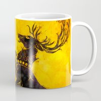 stag Mugs featuring Stag by Narwen