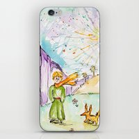 le petit prince iPhone & iPod Skins featuring Le petit prince by Colorful Simone