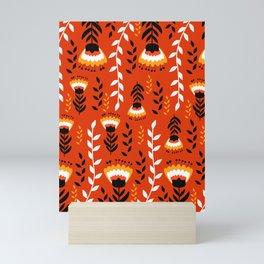Bright floral decor Mini Art Print