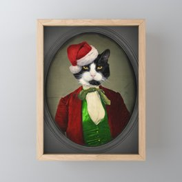 Puccini goes to a Christmas Party Framed Mini Art Print